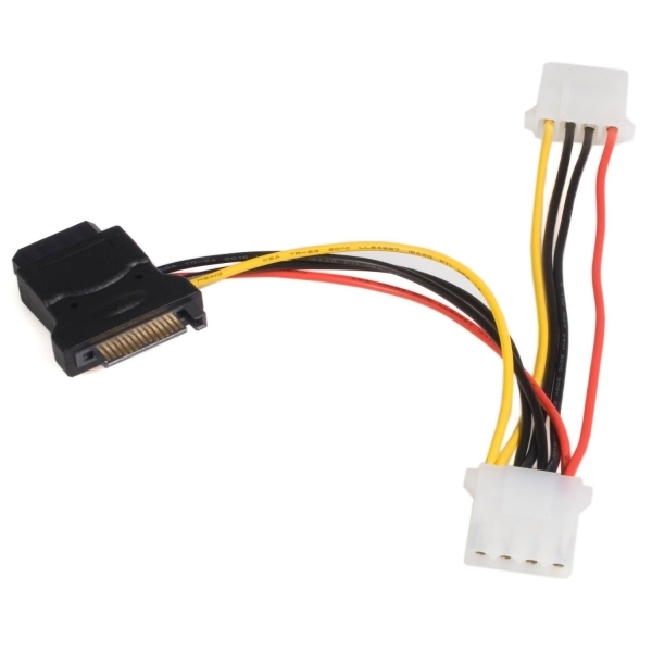 Image of SATA to LP4 Power Cable Adapter with 2 Additional LP4