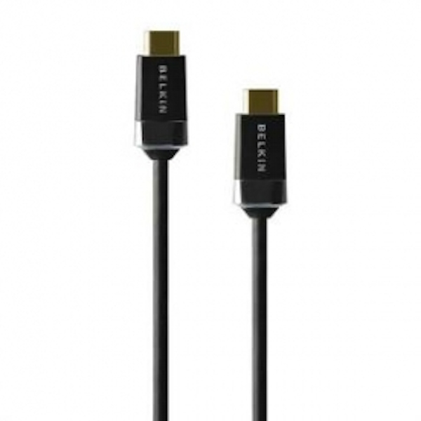 Belkin High Quality NON-Retail HDMI Cable  HIGH SPEED  GOLD 2M