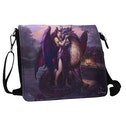 Dragon Sanctuary Embossed Shoulder Bag