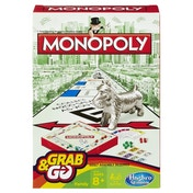 Monopoly Grab and Go Travel Board Game