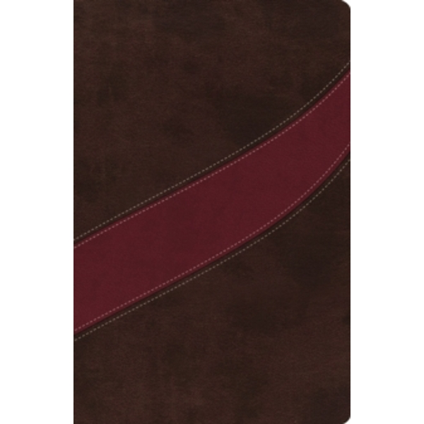 NASB, The MacArthur Study Bible, Imitation Leather, Brown/Red
