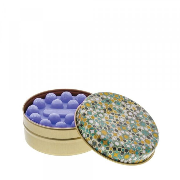 Teal and Ochre Geometric with Lavender Soap