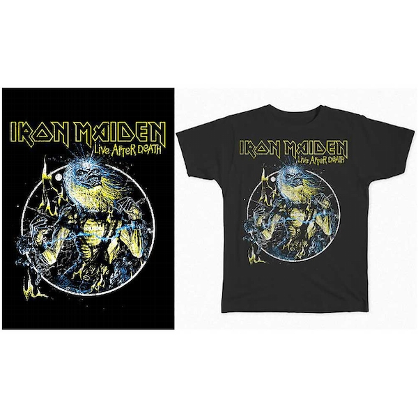 Iron Maiden - Live After Death Unisex Small T-Shirt - Black