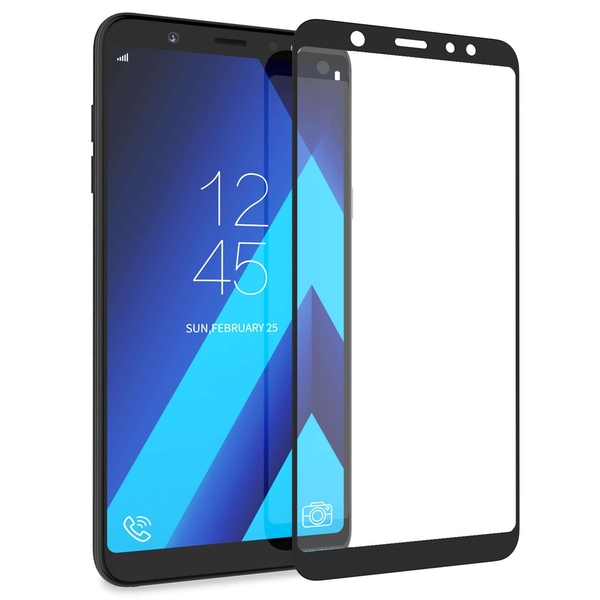 CASEFLEX SAMSUNG GALAXY A6 PLUS (2018) TEMPERED GLASS (SINGLE) - BLACK EDGE