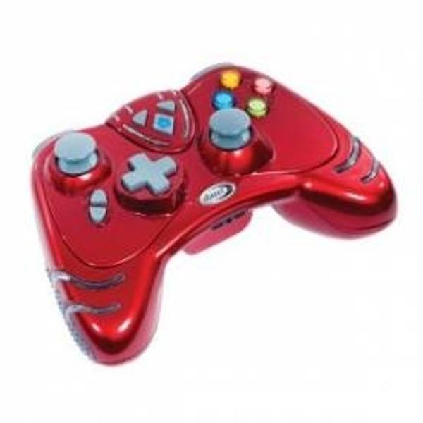 Ex-Display Datel Ruby Red WILDFIRE 2 Wireless Controller Dual Rumble and Rapid Turbo Fire Xbox 360 Used - Like New - Image 1