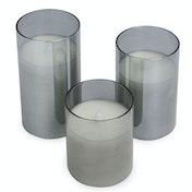 LED Candles - Set of 3 | M&W Grey