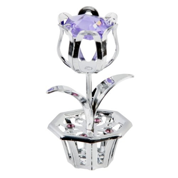 Crystocraft Tulip - Lilac - Crystals From Swarovski?