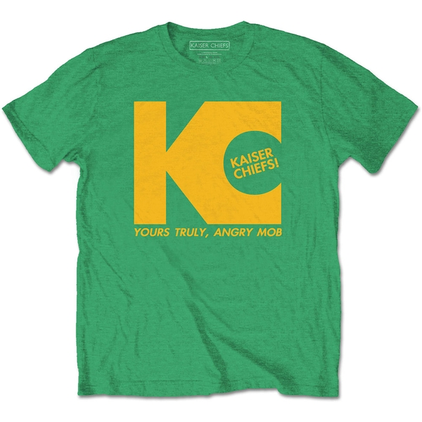 Kaiser Chiefs - Yours Truly Unisex Small T-Shirt - Green