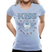 Kiss - Spirit Of 78 Sk Women's Large T-Shirt - Blue