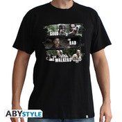 The Walking Dead - Good,Bad,Walkers Men's Small T-Shirt - Black