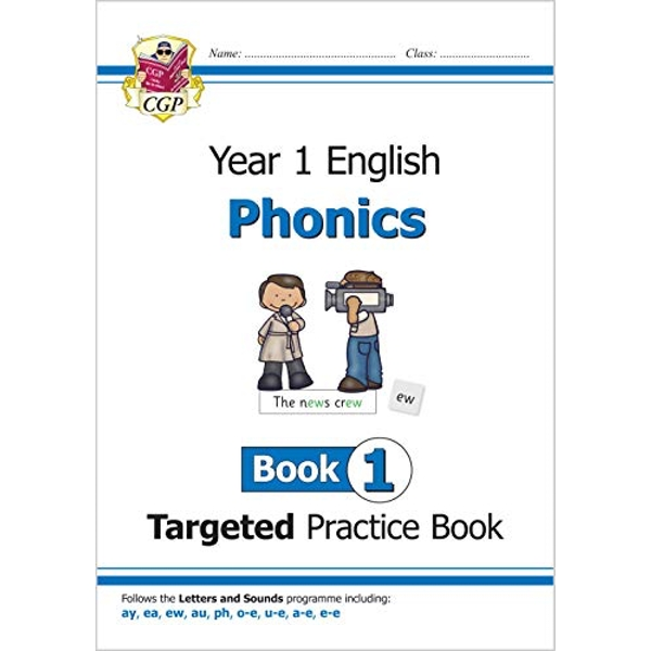 KS1 English Targeted Practice Book: Phonics - Year 1 Book 1 by CGP Books (2018, Paperback)