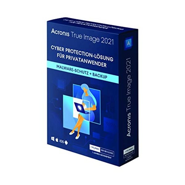 Acronis True Image 2021 | Advanced | 1 PC/Mac Personal Cyber Protection | Integrated Backup and Antivirus with 250 GB Cloud Storage