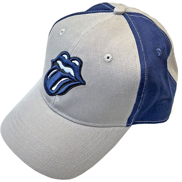 The Rolling Stones - Navy Tongue Unisex Baseball Cap - Grey/Blue