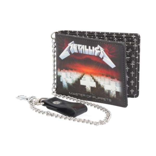 Metallica - Master Of Puppets Embossed Wallet With Chain