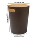 Wooden Waste Paper Bin | M&W Brown - Image 5