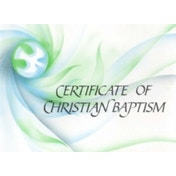 Ecumenical Certificate of Baptism by SPCK Publishing (Cards, 1992)