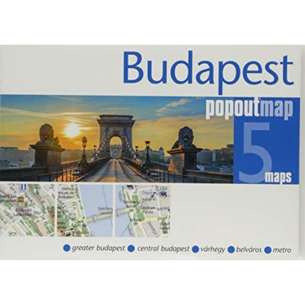Budapest PopOut Map  Sheet map, folded 2018
