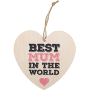Best Mum Hanging Heart Sign