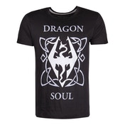 The Elder Scrolls Skyrim - Dragon Soul Men's XX-Large T-Shirt - Black