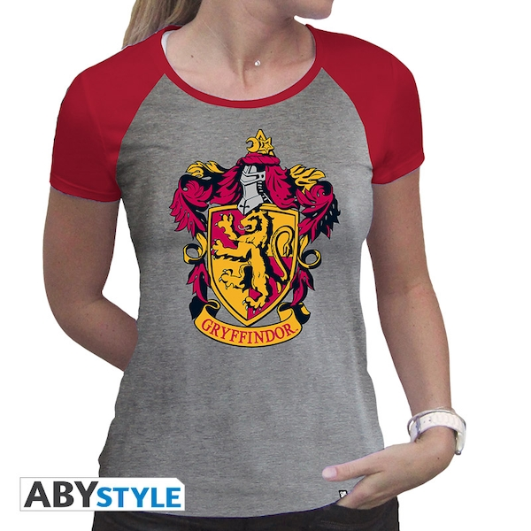 Harry Potter - Gryffindor Women'S X-Small T-Shirt - Grey/Red