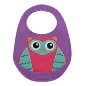 Little Helper Oops Crumb Catcher Bib with Super Cute 3D Owl Appliqué