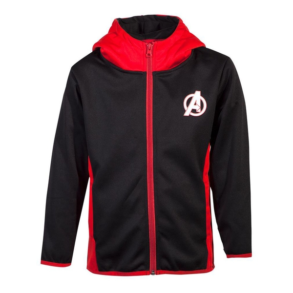 Marvel Comics - Avengers Logo Kid's 158/164 Hoodie - Black/Red
