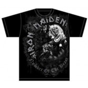 Iron Maiden NOTB Grey Tone Mens T Shirt: Medium