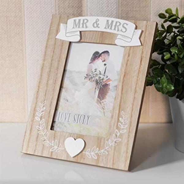 "4"" x 6"" - Love Story Photo Frame - Mr & Mrs"