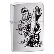 Zippo Fisherman Brushed Chrome Windproof Lighter