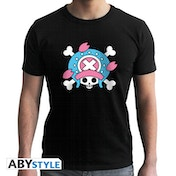 One Piece - Skull Chopper Nw* Men's Small T-Shirt - Black