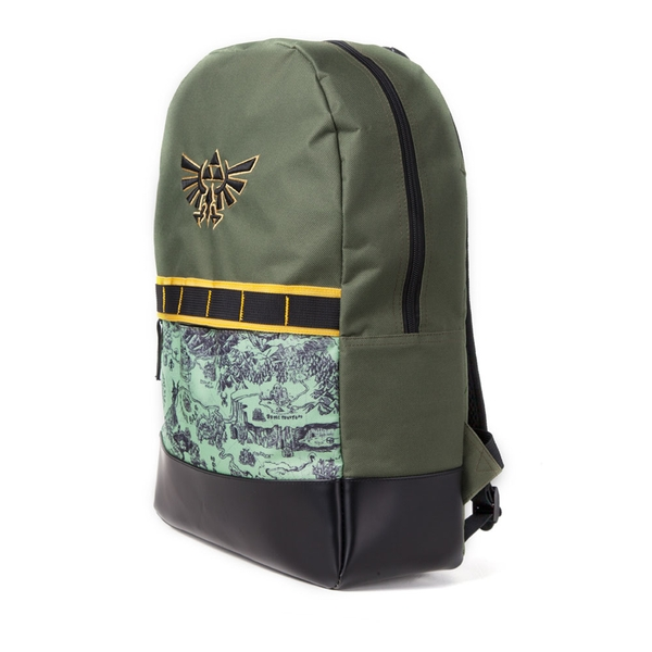 Nintendo - Hyrule Crest With Map Print Backpack - Multi-Colour