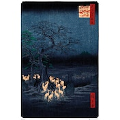 Hiroshige New Years Eve Foxfire Maxi Poster