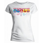 One Direction Line Drawing Skinny White TS: Small