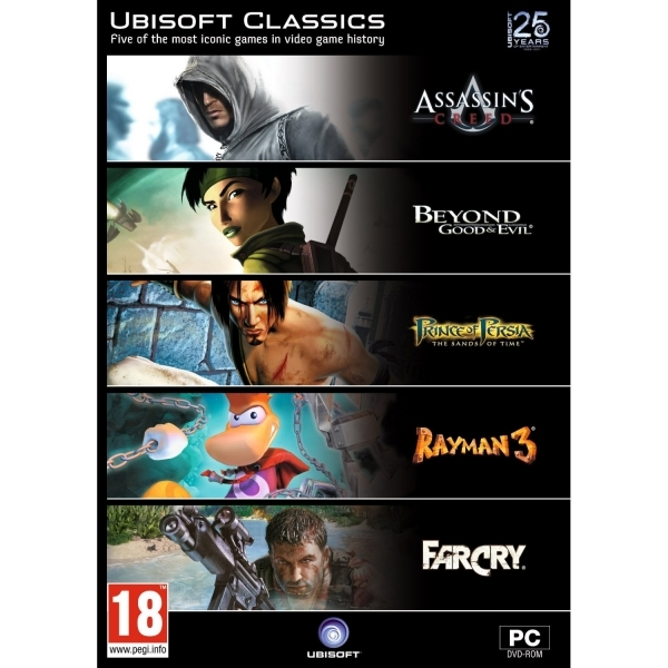 Ubisoft Classics 5 (Includes: Assassin's Creed, Beyond Good & Evil, Rayman and More) PC Game Pack