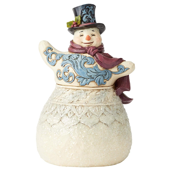 Frosty Formailty Victorian Snowman with Top Hat Figurine