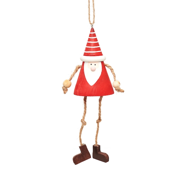 Sass & Belle Hanging Santa Gnome with Dangling Legs