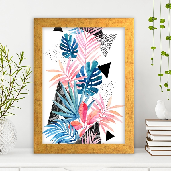 AC749833915 Multicolor Decorative Framed MDF Painting