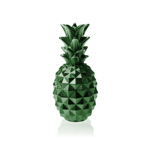 Green Metallic Medium Pineapple Candle