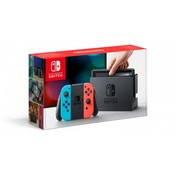 Nintendo Switch Console with Neon Red & Blue Joy-Con Controllers