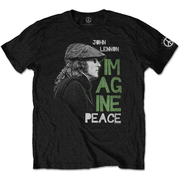 John Lennon - Imagine Peace Men's Medium T-Shirt - Black