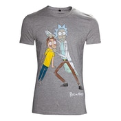 Rick and Morty - Crazy Eyes Men's XX-Large T-Shirt - Grey