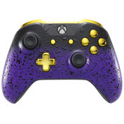 3D Purple Shadow & Gold Xbox One S Controller