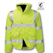 Black Knight X-Large Gawain Executive High Visibility Bomber Jacket - Yellow