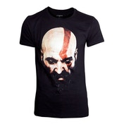 God of War - Kratos Face Men's Large T-Shirt - Black