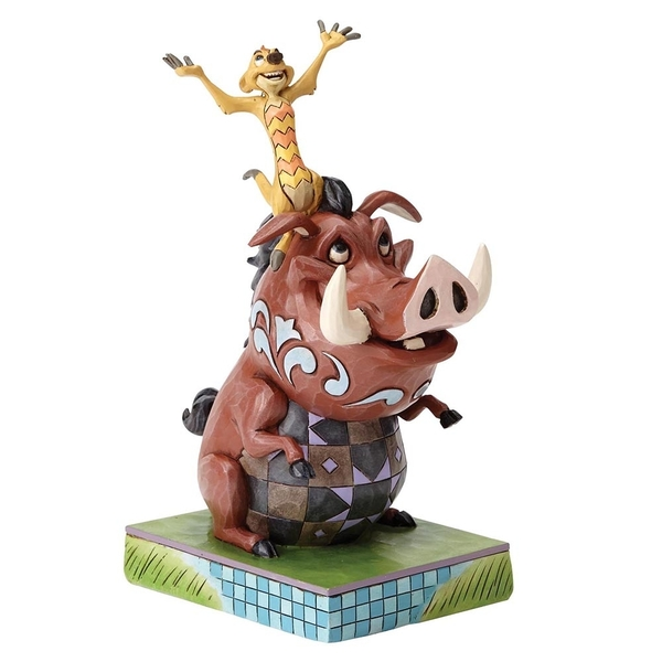 Carefree Cohorts (Timon and Pumba) Disney Traditions Figurine