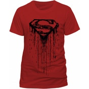 Superman - Dripping Unisex Small T-Shirt - Red
