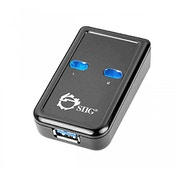 Siig USB 3.0 Switch 2-to-1 5000Mbit/s Black interface hub