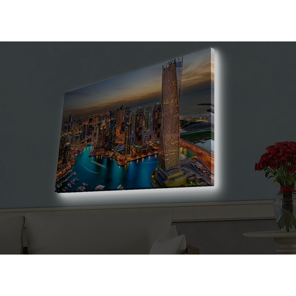 4570HDACT-082 Multicolor Decorative Led Lighted Canvas Painting