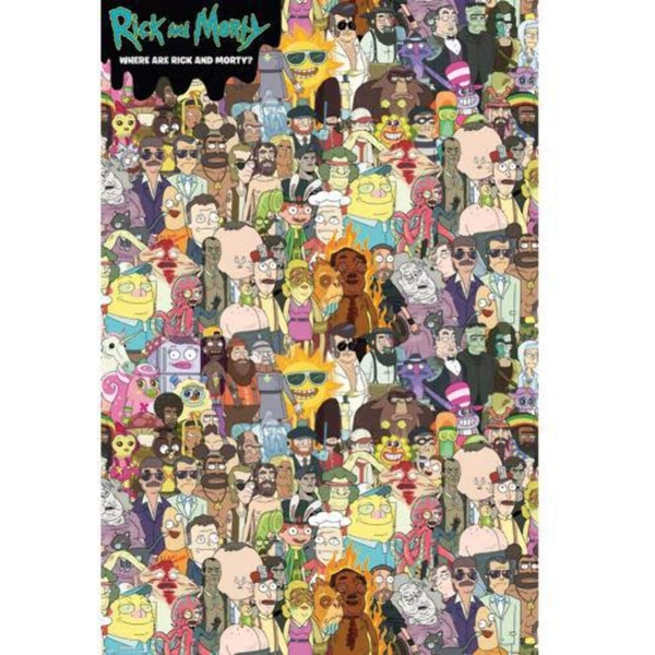 Rick and Morty Where's Rick Poster
