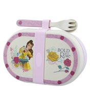 Enchanting Disney Belle Organic Snack Box with Cutlery Set